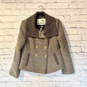 Anthropologie Tabitha tweed button front jacket